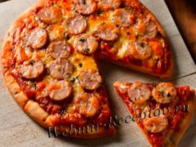 "Пицца с копченой колбасой ""Алёнушка"""