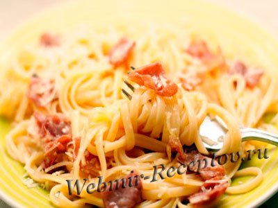 Спагетти с грудинкой