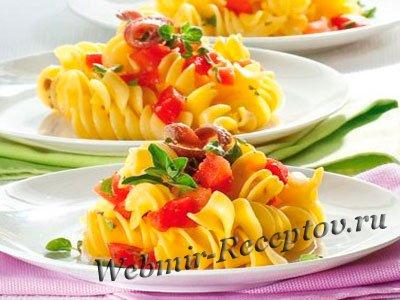 Итальянская паста с анчоусами