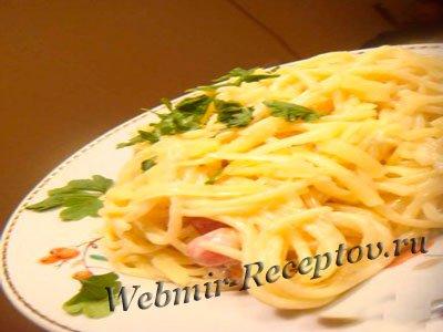 """Спагетти с перепелиными яйцами """"Загляденье"""""""