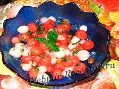 Арбузно-дынный салат