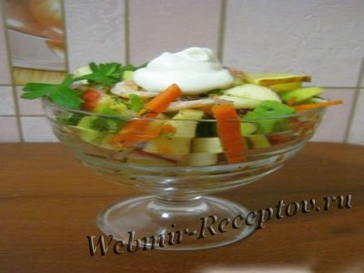 Салат-коктейль с авокадо