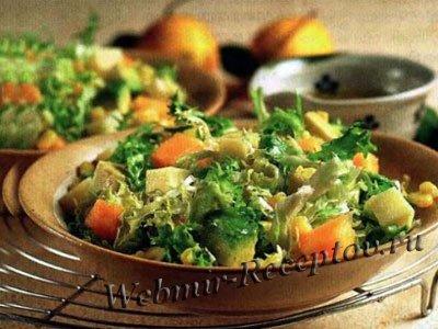 Фруктовый салат с ветчиной