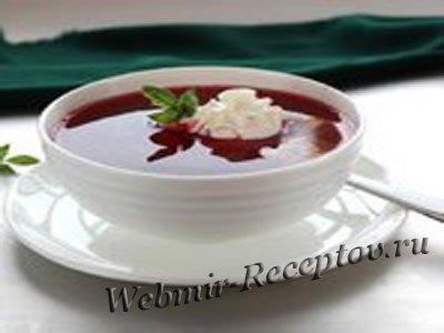 Ягодный суп с манкой