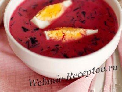 Клубничный суп с фледле