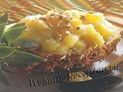 Рыбное рагу с ананасом