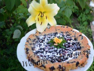 Фруктовый торт с творогом