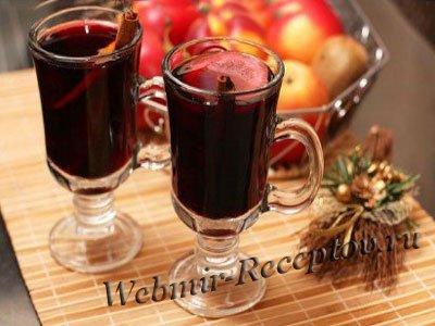 Персиковое вино с пряностями