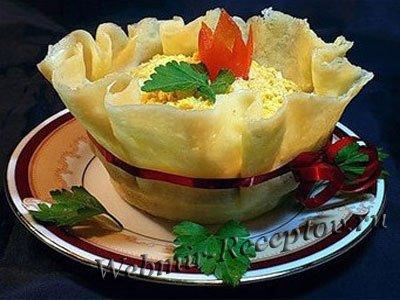 """Сырный салат """"Гости на пороге"""""""