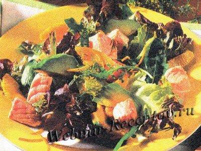 """Салат с рыбой и медом """"Фишка"""""""