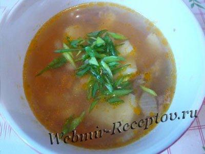 Фасолевый суп с тушенкой