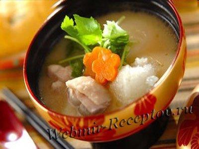 Суп с картофельно-рисовыми клецками