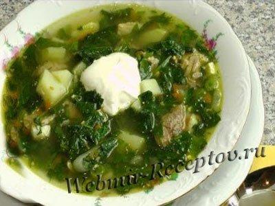 Щавелевый суп с рыбой