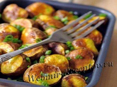 Картофель, печенный на мангале
