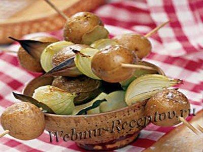 Картофельный шашлык
