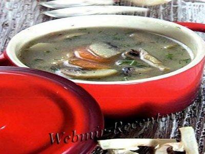 Грибной суп с манной крупой