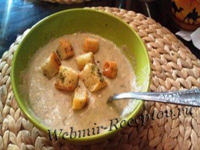 С маслятами - крем-суп