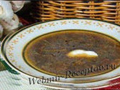 Грибной суп с сухофруктами