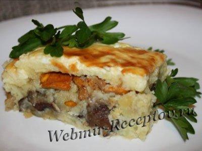 Запеканка картофельно-грибная