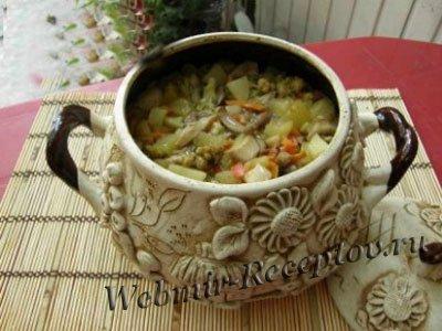 С грибами овощное рагу