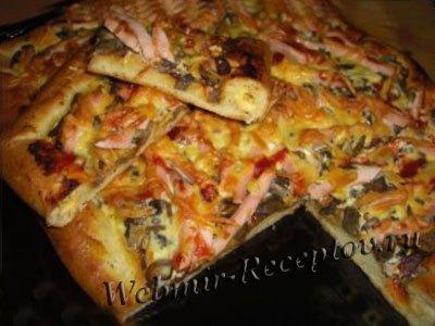 Пицца с заливкой из яиц