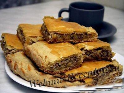 Гречневый пирог с грибами