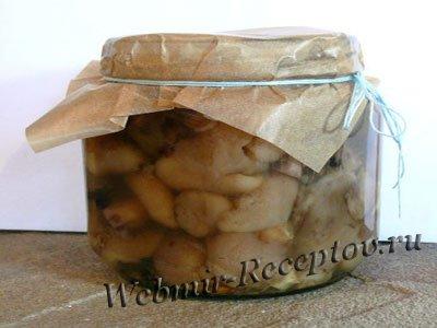 Грибочки маринованные с сушеным укропом