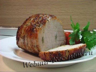 Свиная корейка с розмарином