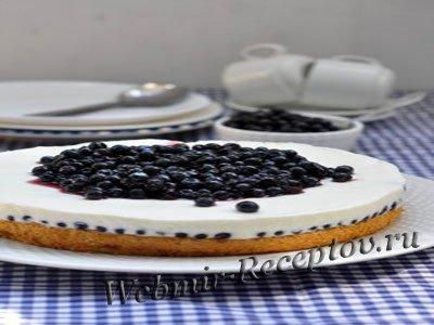 Торт с черникой