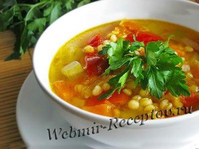 Мясной суп с репой и тыквой