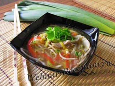 Имбирный суп с курицей