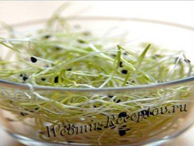 Салат из проросшей фасоли