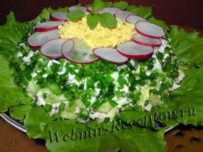 Огуречный салат с курицей