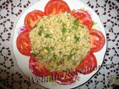 Салат из запеченного риса