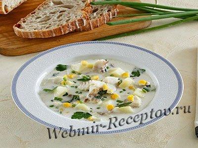 Суп с картофелем и кукурузой