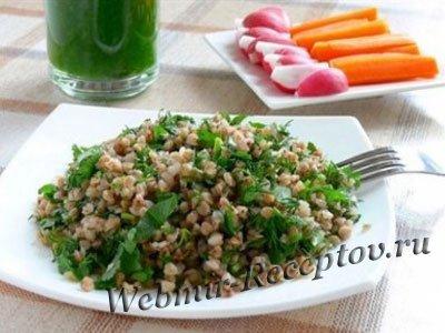 Гречка с зеленью и шпинатом