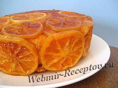 Апельсины с сахарным сиропом
