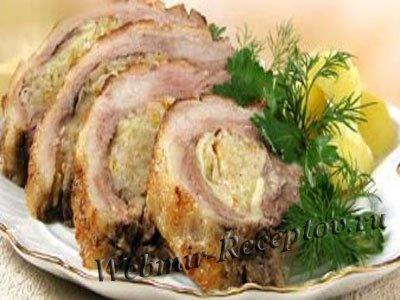 Фаршированная свиная грудинка