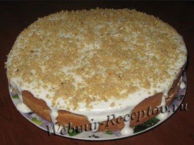 Сметанно-ореховый тортик