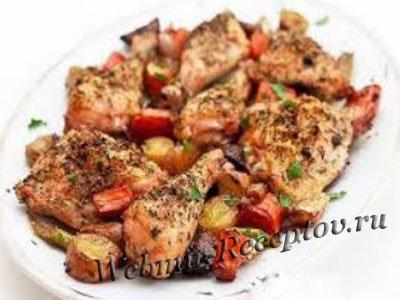 Курица с вином и перцем