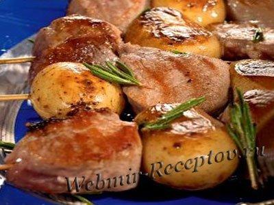 Шашлык из свинины с картофелем