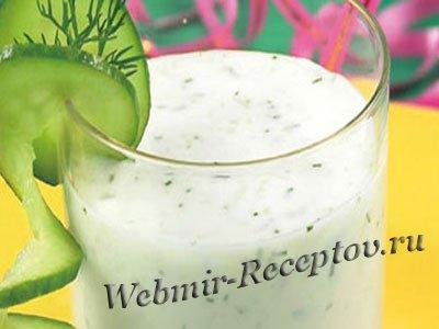 Молочный напиток с зеленью