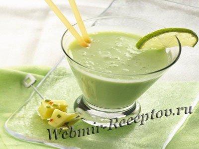 Молочный напиток с лимоном